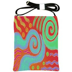 Abstract Digital Painting On Shoulder Sling Bag