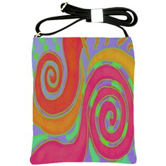 Colorful Abstract Painting On Shoulder Sling Bag