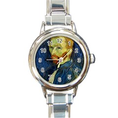 Vincent Van Gogh Self Portrait With Palette Round Italian Charm Watch