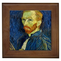 Vincent Van Gogh Self Portrait With Palette Framed Ceramic Tile