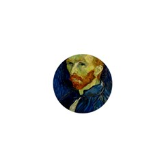 Vincent Van Gogh Self Portrait With Palette 1  Mini Button