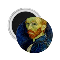 Vincent Van Gogh Self Portrait With Palette 2.25  Button Magnet