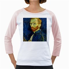 Vincent Van Gogh Self Portrait With Palette Women s Long Cap Sleeve T-Shirt (White)