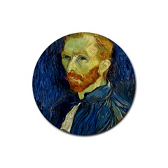 Vincent Van Gogh Self Portrait With Palette Drink Coaster (Round)