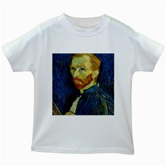 Vincent Van Gogh Self Portrait With Palette Kids T-shirt (White)
