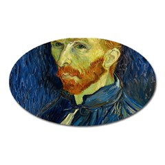 Vincent Van Gogh Self Portrait With Palette Magnet (Oval)