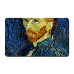 Vincent Van Gogh Self Portrait With Palette Magnet (Rectangular)