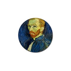 Vincent Van Gogh Self Portrait With Palette Golf Ball Marker