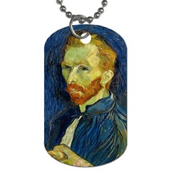 Vincent Van Gogh Self Portrait With Palette Dog Tag (Two-sided)