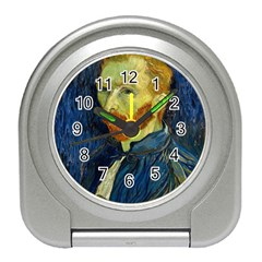 Vincent Van Gogh Self Portrait With Palette Desk Alarm Clock