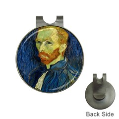 Vincent Van Gogh Self Portrait With Palette Hat Clip with Golf Ball Marker