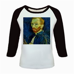 Vincent Van Gogh Self Portrait With Palette Kids Long Cap Sleeve T-Shirt