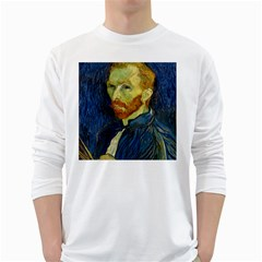 Vincent Van Gogh Self Portrait With Palette Men s Long Sleeve T-shirt (White)
