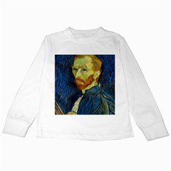 Vincent Van Gogh Self Portrait With Palette Kids Long Sleeve T Shirt