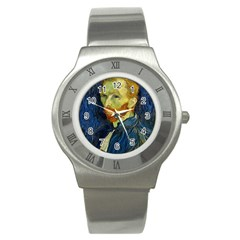 Vincent Van Gogh Self Portrait With Palette Stainless Steel Watch (slim)