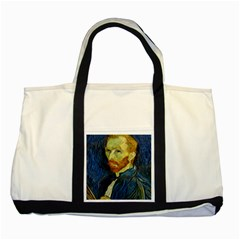 Vincent Van Gogh Self Portrait With Palette Two Toned Tote Bag