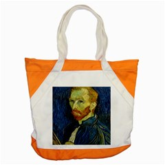 Vincent Van Gogh Self Portrait With Palette Accent Tote Bag