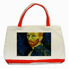 Vincent Van Gogh Self Portrait With Palette Classic Tote Bag (Red)