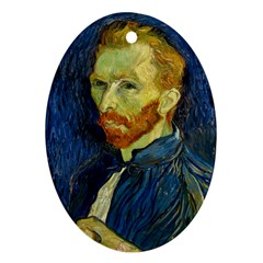 Vincent Van Gogh Self Portrait With Palette Oval Ornament (Two Sides)