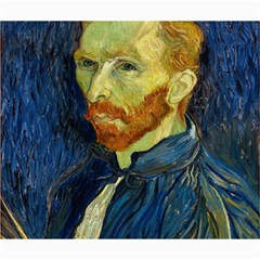 Vincent Van Gogh Self Portrait With Palette Canvas 20  X 24  (unframed)