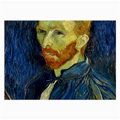 Vincent Van Gogh Self Portrait With Palette Glasses Cloth (Large, Two Sided)