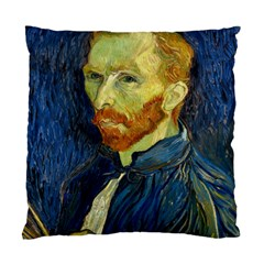 Vincent Van Gogh Self Portrait With Palette Cushion Case (Two Sided)