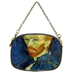 Vincent Van Gogh Self Portrait With Palette Chain Purse (two Sided)