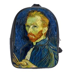 Vincent Van Gogh Self Portrait With Palette School Bag (large)