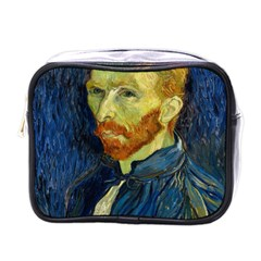 Vincent Van Gogh Self Portrait With Palette Mini Travel Toiletry Bag (one Side)