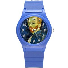 Vincent Van Gogh Self Portrait With Palette Plastic Sport Watch (Small)