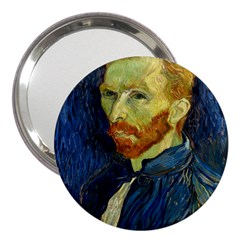 Vincent Van Gogh Self Portrait With Palette 3  Handbag Mirror