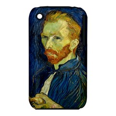 Vincent Van Gogh Self Portrait With Palette Apple Iphone 3g/3gs Hardshell Case (pc+silicone)