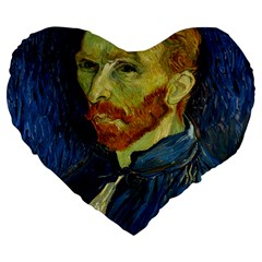 Vincent Van Gogh Self Portrait With Palette 19  Premium Heart Shape Cushion