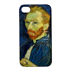 Vincent Van Gogh Self Portrait With Palette Apple Iphone 4/4s Hardshell Case With Stand