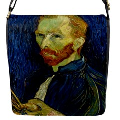 Vincent Van Gogh Self Portrait With Palette Flap Closure Messenger Bag (Small)