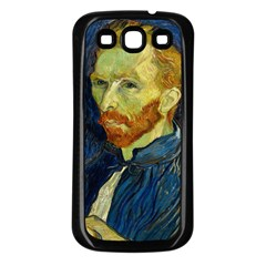 Vincent Van Gogh Self Portrait With Palette Samsung Galaxy S3 Back Case (Black)