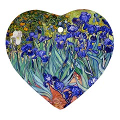 Vincent Van Gogh Irises Heart Ornament