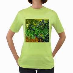 Vincent Van Gogh Irises Women s T-shirt (Green)