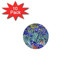 Vincent Van Gogh Irises 1  Mini Button (10 pack)