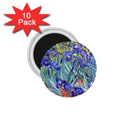 Vincent Van Gogh Irises 1 75  Button Magnet (10 Pack)