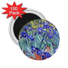 Vincent Van Gogh Irises 2 25  Button Magnet (100 Pack)