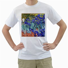 Vincent Van Gogh Irises Men s Two-sided T-shirt (White)