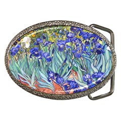 Vincent Van Gogh Irises Belt Buckle (Oval)