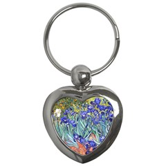 Vincent Van Gogh Irises Key Chain (Heart)