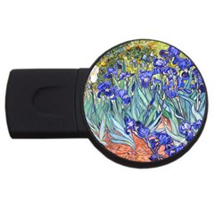 Vincent Van Gogh Irises 1GB USB Flash Drive (Round)
