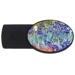 Vincent Van Gogh Irises 1GB USB Flash Drive (Oval)