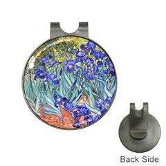 Vincent Van Gogh Irises Hat Clip with Golf Ball Marker