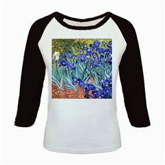 Vincent Van Gogh Irises Kids Long Cap Sleeve T-Shirt