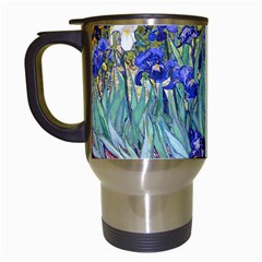 Vincent Van Gogh Irises Travel Mug (White)