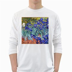 Vincent Van Gogh Irises Men s Long Sleeve T Shirt (white)